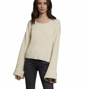 Nation LTD Jude Ribbed Cuff Crop Sweater